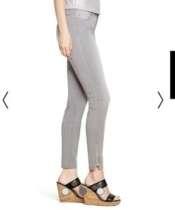 WHBM Skimmer jean in gray with ankle zips